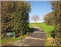 SX3866 : Path to driving range, St Mellion by Derek Harper