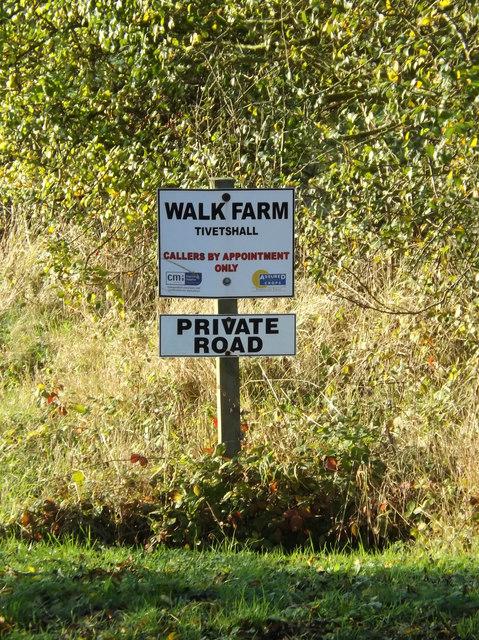 Walk Farm sign
