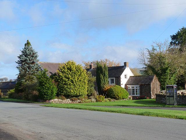 House on the edge of Cumwhitton village green