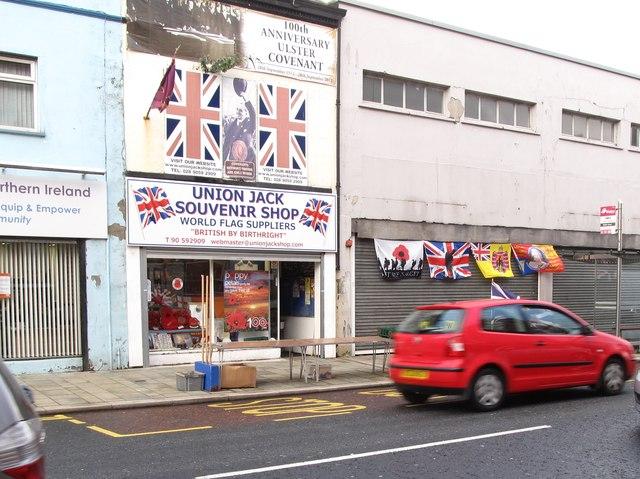 The Union Jack Souvenir Shop in Newtownards Road