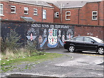 J3574 : Mural of the Rising Sons Flute Band of East Belfast by Eric Jones