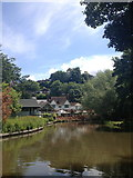 SU9948 : View upriver to The Weyside pub, Guildford by Jonathan Hutchins