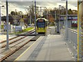 SJ8387 : Crossacres Metrolink Stop, Manchester Airport Line by David Dixon