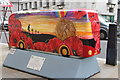 TQ3080 : Bus Art, 'Les We Forget' by Oast House Archive