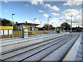 SJ8090 : Wythenshawe Park Tram Stop, Metrolink Airport Line by David Dixon