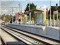 SJ8090 : Northern Moor Metrolink Stop, Outbound Platform by David Dixon