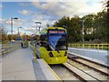 SJ8386 : Metrolink Airport Line, Tram at Peel Hall by David Dixon