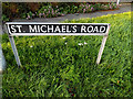TM1993 : St.Michael's Road sign by Adrian Cable