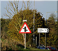 TM2094 : Roadsigns on the A140 Norwich Road by Adrian Cable