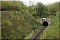 TQ2954 : Tunnel at Merstham by Peter Trimming