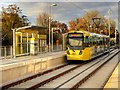 SJ8385 : Shadowmoss Tram Stop (Inbound) by David Dixon