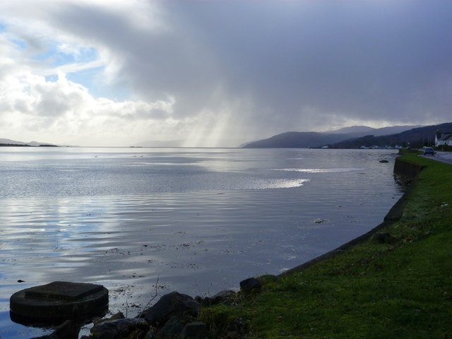 Passing squall on Loch Gilp
