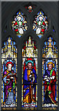TQ3385 : St Jude, Mildmay Grove - Stained glass window by John Salmon