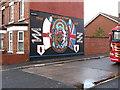 J3574 : The Gertrude Star Flute Band Mural in Martin Street by Eric Jones