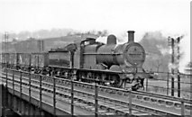 SK3871 : Midland 0-6-0 on Up goods passing Chesterfield, 1955 by Ben Brooksbank