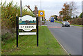 SK6990 : Village entrance sign at Everton by Alan Murray-Rust