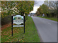 SK6885 : Village entrance sign at Sutton cum Lound by Alan Murray-Rust