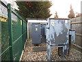 TQ1787 : Power transformer by South Kenton Station by David Howard