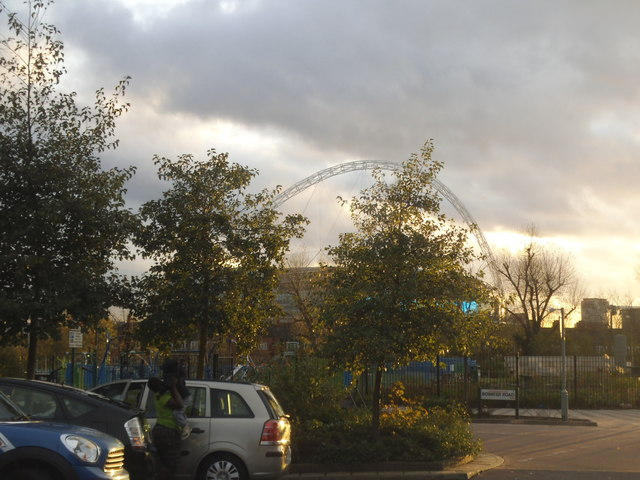 The Wembley Arch from Chalkhill Road