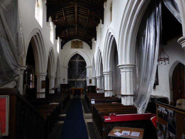 Church of St Michael and All Angels: Polythene wrapped nave