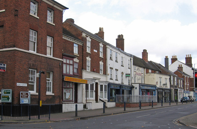 Bilston - Shops on Mount Pleasant - W end