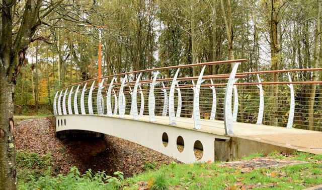 New footbridge, Orangefield Park, Belfast (November 2014)