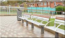 J3773 : New seating area, Orangefield Park, Belfast (November 2014) by Albert Bridge