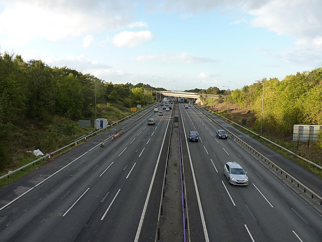 M6 carriageway north of the B4156