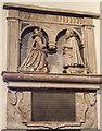 TQ4412 : Monument to Elizabeth Jefferay and husband by Julian P Guffogg