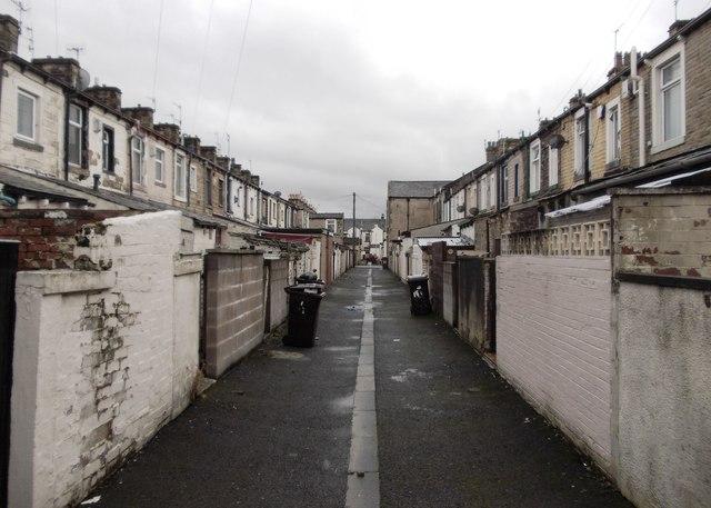 Behind the houses in Burnley