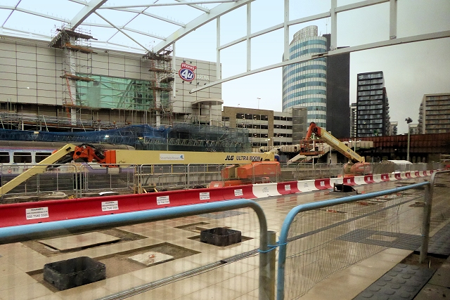 New Metrolink Platform Under Construction at Manchester Victoria Station