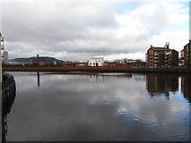 J3473 : The River Lagan from the western end of Albert Bridge by Eric Jones