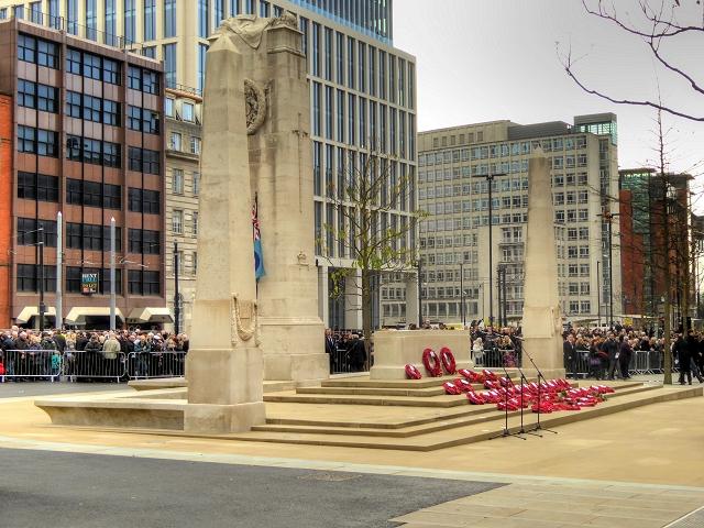 Manchester Cenotaph, Remembrance Sunday