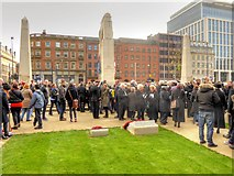 SJ8398 : Remembrance Sunday at Manchester Cenotaph by David Dixon