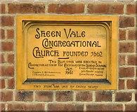 TQ2075 : Foundation stone, Sheen Vale Congregational Church, AD 1901 by Stefan Czapski