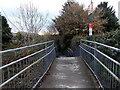 SS9681 : Penprysg Road entrance to Pencoed railway station by Jaggery