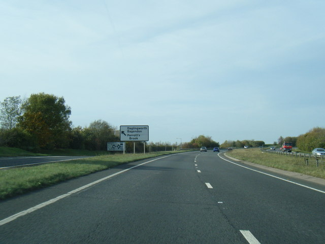 A417 at Quarry Junction