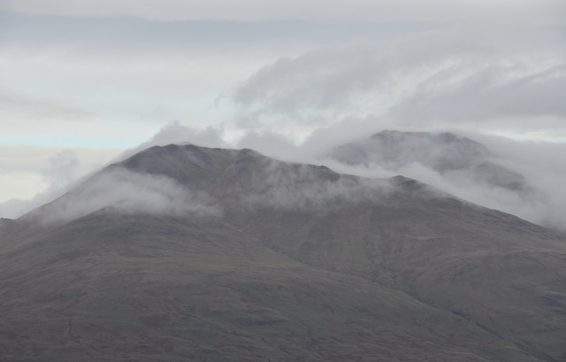Patchy cloud on Beinn Ghlas and Ben Lawers