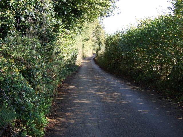 County lane towards Trevarrick