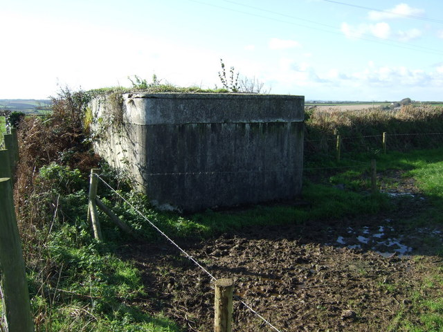 Concrete structure near Tregilgas