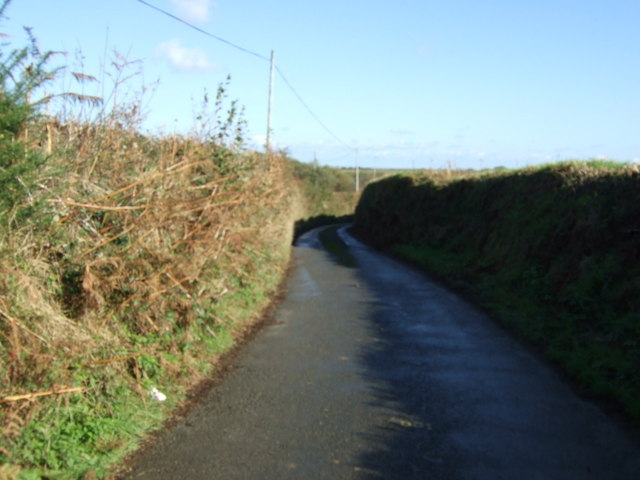 Country Lane with high banks
