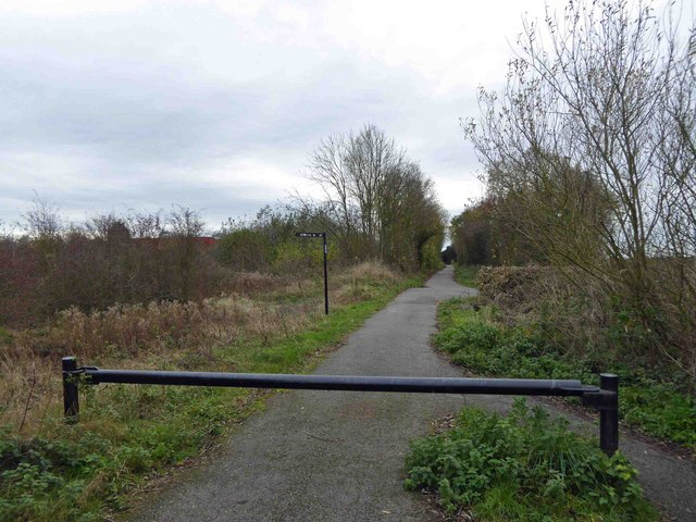 Barrier on cycle path
