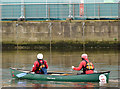J3474 : Canoe, River Lagan, Belfast (November 2014) by Albert Bridge
