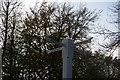 SP1335 : Joseph Izod's fingerpost, Cross Hands, Five Mile Drive by Christopher Hilton