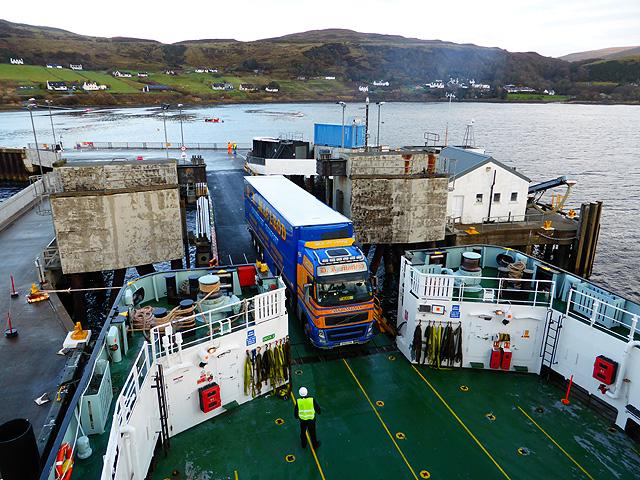 Loading the Lochmaddy ferry at Uig