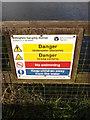 TM1678 : Billingford Gauging Station sign by Geographer