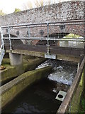 TM1678 : Weir at Billingford Bridge by Adrian Cable