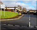ST2590 : Pedestrian & cycle entrance to  Risca Community Comprehensive School by Jaggery