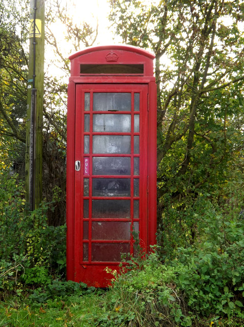 Telephone Box off the A143 Bungay Road