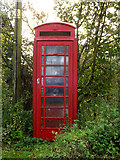 TM1678 : Telephone Box off the A143 Bungay Road by Adrian Cable